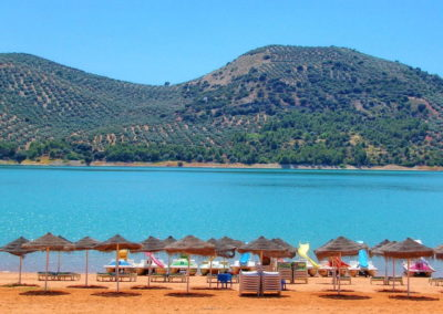 Iznajar lake beach