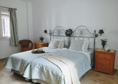 bedroom 1 with curtain 2
